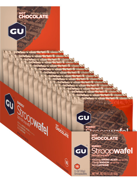 GU Energy StroopWafel Box Hot Chocolate 16 x 32g